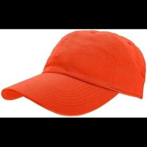 Faded Glory Solid Orange Baseball Cap